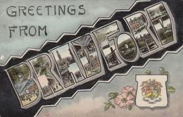 Postcard Greetings From Bradford Multiview Pre C WW1 To Miss Jenkinson In Yeadon Leeds My Ref  B13087 - Bradford