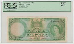 Fiji 1 Pound 1959 VF PCGS 20 Pick 53c - Fiji