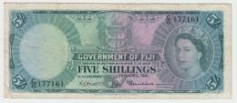 Fiji 5 Shillings 1962 VF Pick 51b 51 B - Fidji
