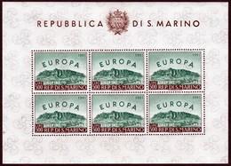 ~~~ San Marino 1961 - Europa CEPT Minisheet Kleinbogen  - Mi. 700 KB ** MNH - CV 280 Euro   ~~~ - Blokken & Velletjes