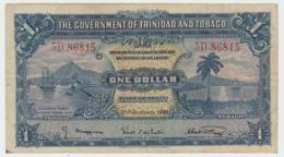 TRINIDAD & TOBAGO 1 Dollar 1939 VF Banknote Pick 5b 5 B - Trinidad & Tobago