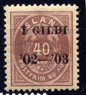 ISLANDE -31A** - CHIFFRE - 1873-1918 Dependencia Danesa