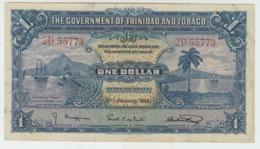 TRINIDAD & TOBAGO 1 Dollar 1939 VF+ Banknote Pick 5b 5 B - Trinidad & Tobago