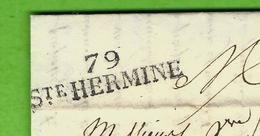 1829 MARQUE POSTALE 79 STE HERMINE SUPERBE FRAPPE Michelon Pour Bourcard à Nantes TEXTE INTERESSANT NEGOCE ANIMAUX - 1801-1848: Vorläufer XIX