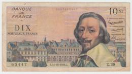 France 10 Nouveaux Francs 1959 AVF Pick 142 - 1959-1966 ''Nouveaux Francs''