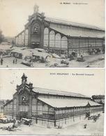 BELFORT (Territoire-de-Belfort) - Lot De 2 CPA - Le MARCHE COUVERT - Voyagées - Belfort - City