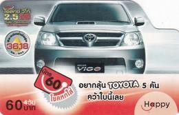 Thailand, TH-Happy-0713, Car -Toyota Vigo, 2 Scans. - Thaïland
