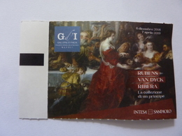 """Biglietto Ingresso Mostra """"Gallerie D'italia Palazzo Zevallos Stigliano - Napoli RUBENS VAKN DYCK RIBEIRA"""" 2019 - Biglietti D'ingresso"""