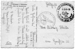 "ALLEMAGNE.1943.""LAZARET DE WARMBRUNN"". ""CADUCEE""... - Médecine"