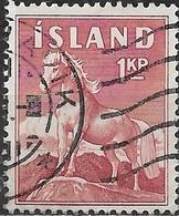 ICELAND 1958 Icelandic Pony - 1k - Red FU - Usati
