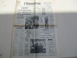 L'HUMANITE ORGANE CENTRAL DU PARTI COMMUNISTE FRANCAIS DU LUNDI 22 AVRIL 1968 - Journaux - Quotidiens