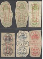 """INDOCHINE : Timbre """"Enregistrement Domaines Et Timbre"""" De 1901 Et 1908 - 6 Timbres - Autres"""