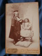 Photo Format Cabinet  Berger à Paris  Deux Enfants Déguisés  Avocat Et Princesse  CA 1890-95 - L436F - Anciennes (Av. 1900)