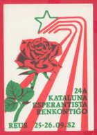 240485 / ESPERANTO 24 A KATALUNA ESPERANTISTA RENKONTIGO 1982 , Kataluna Esperanto-Asocio Spain Espana - Esperanto