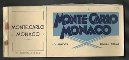 MONTE CARLO - MONACO = 1 CARNET NEUF DE 10 CARTES POSTALES +10  PHOTOS - Monaco