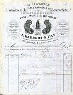 06.VALLAURIS.FABRIQUE DE MATIERE PREMIERES POUR PARFUMEURS.J.MAUBERT & FILS PARFUMERIE SAINT HONORAT. - Chemist's (drugstore) & Perfumery