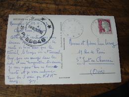 Poste Aux Armees 3 Etoiles Sp 89846  Lettre Bechar Timbre Marianne - Marcophilie (Lettres)