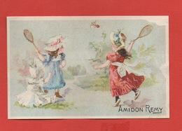 Amidon Rémy, Jolie Chromo, Jeunes Filles, Badminton - Trade Cards