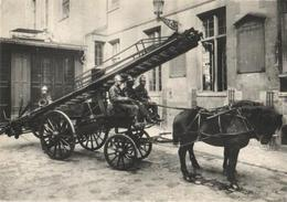 75 - PARIS - 1900 - LA GRANDE ÉCHELLE DES POMPIERS (REPRODUCTION) - Other