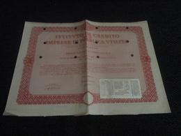OBBLIGAZIONE 50.000 ISTITUTO DI CREDITO IMPRESE DI PUBBLICA UTILITA'-1949 - Banca & Assicurazione