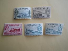 1953/4 Gibraltar Yv 130 132 134/5 144 ** MNH Bateaux Ships Cote 8.20 € Michel 134 136 138/9 148 Scott 132 134 136/7 146 - Gibraltar