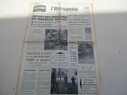 L'HUMANITE ORGANE CENTRAL DU PARTI COMMUNISTE FRANCAIS DU VENDREDI 19 AVRIL 1968 - Journaux - Quotidiens