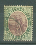 St Kitts-Nevis: 1903   Columbus    SG1    ½d       Used - St.Christopher-Nevis-Anguilla (...-1980)