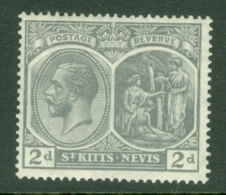St Kitts-Nevis: 1921/29   KGV    SG41    2d      MH - St.Christopher-Nevis-Anguilla (...-1980)