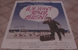 AFFICHE CINEMA ORIGINALE FILM ILS VONT TOUS BIEN ! TORNATORE MASTROIANNI Michèle MORGAN 1990 TBE JOUINEAU BOURDUGE - Posters