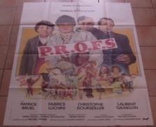 AFFICHE CINEMA ORIGINALE FILM P.R.O.F.S. PROFS BRUEL LUCHINI GAMELON SCHULMANN 1985 Mascii TBE - Posters