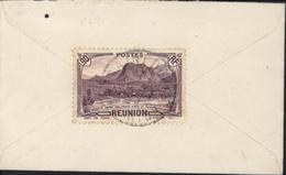 YT 168 CAD St Denis Réunion Je Pense 1941 Sur Enveloppe Pour Carte De Visite - Reunion Island (1852-1975)
