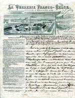 BELGIQUE.LEMBECK LEZ HAL.FABRICATION DE BOUTEILLES A BIERE.LA VERRERIE FRANCO-BELGE. - France