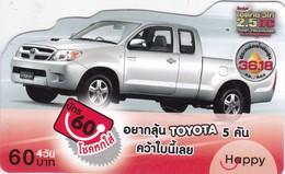 Thailand, TH-Happy-0712, Car -Toyota, 2 Scans. - Thaïland