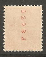 Zu 215yRM F8435 ** SBK 15,- Voir 2 Scans + Description - Coil Stamps