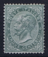 Italy:  Sa 16 Mi 16 MH/* Flz/ Charniere 1863 - 1861-78 Victor Emmanuel II.