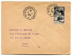 RC 12638 FRANCE 1954 CONVOYEUR NEUFCHATEAU A NANCY SUR N° 829 EXPÉDITIONS POLAIRES SEUL SUR LETTRE TB - Postmark Collection (Covers)