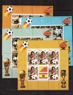 Bhutan-1982(Mi.766-769), Sheets, Football, Soccer, Fussball,calcio, MNH - 1982 – Espagne