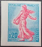 R1949/543 - 1960 - TYPE SEMEUSE DE PIEL - N°1233 NEUF** NON DENTELE - France