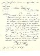 Facture Papeterie-De-Clairvaux ( Jura ) Jules Huet Papiers De Paquetage En 1880 - 1800 – 1899