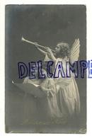 Photographie. Heureux Noël. Anges Chanteurs Et Trompette. Fauvette. 1911 - Non Classés