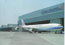 China Airlines Airbus A340-313X B-18801 At Taipei A.340 - 1946-....: Era Moderna