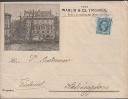 1891. Oscar II. 20 öre. FRÅN UTLANDET.. To HELSINGFORS Pr Uleåborg. Reklame Aktiebola... (Michel 45a) - JF310288 - Storia Postale