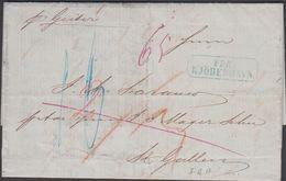1856. Pr. Geiter KJØBENHAVN  To St. Gallen, Schweiz 29. Sept 1856 Porto 16 + 2 + Kart... () - JF306179 - Postage Due