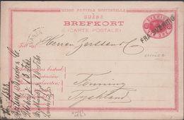 1888. 10 ÖRE  BREFKORT FRA SVERRIG To Tönning, Schleswig,  () - JF306192 - Interi Postali
