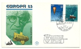 1983 - San Marino 1119/20 Europa - FDC - Europa-CEPT