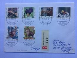 SWITZERLAND 1986 Cover Registered Bern To Dresden Germany - Svizzera