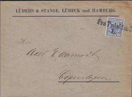 1900. 20 Pf. REICHSADLER  Fra Tydskland L. To Copenhagen KJØBENHAVN K. 0 OMB. 22.4.00... () - JF306161 - Germania