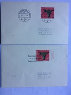 SWITZERLAND 1974 Covers X 2 Ruschegg Graben To Bern - Tied With Pro Patria Stamps - Switzerland