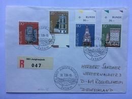 SWITZERLAND 1984 Cover Registered Jungfraujoch To Russelheim Germany Tied With Pro Patria Stamps - Svizzera
