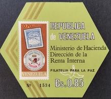 Venezuela  1970  EXFILICA 70 2nd.International Philatelic Exhibition S/S - Venezuela